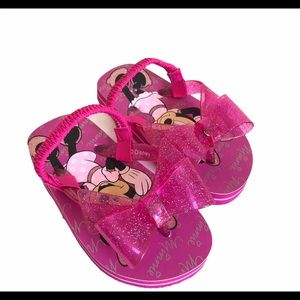 Disney Store Toddler 8 Pink Minnie Mouse Sandals